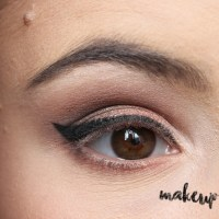 Neutral Smokey Eye Look with Orange Eyeshadow