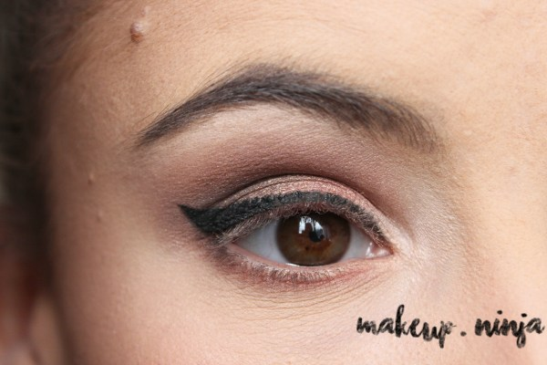 Neutral Smokey Eye Look with Orange Eyeshadow -