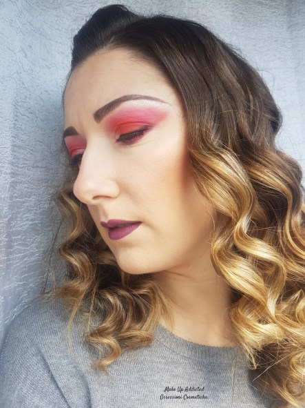 Make up Arancione e Fucsia