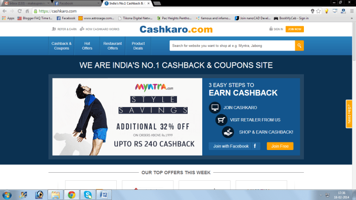 Online Shopping Website Review: CashKaro.Com