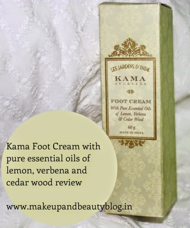 Kama Foot Cream with pure essential oils of lemon, verbena and cedar wood review