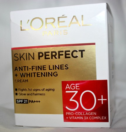 L'Oreal Skin Perfect Anti-Fine Lines + Whitening 30+ Cream Review