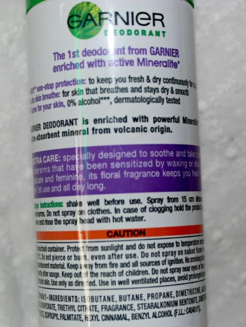 Garnier Mineral Deodorant Extra Care Review