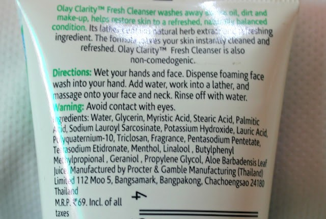 Olay Clarity Fresh Cleanser Face Wash Review