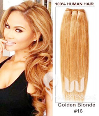 22 inch Golden Blonde(#16) Straight Indian Remy Hair Weave