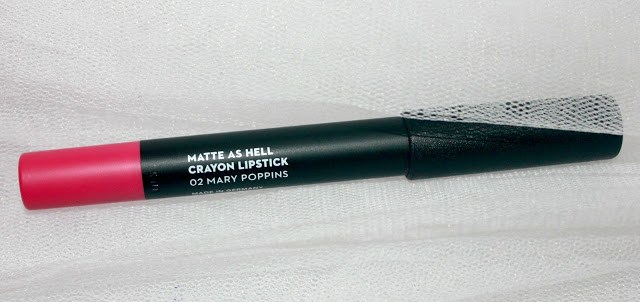 Sugar Cosmetics Matte As Hell Lipstick Crayon- 02 Mary Poppins (Fuchsia): Review & LOTD
