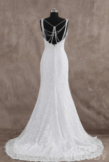 Back Interest Wedding Dresses: Cocomelody