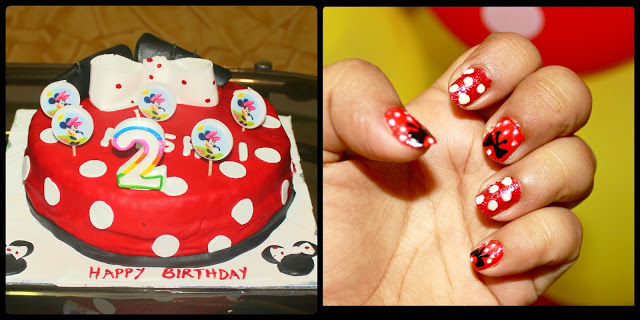 Easy Disney Minnie Mouse Nail Art