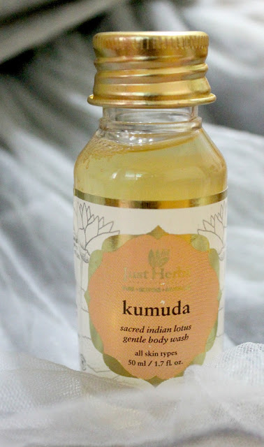 Just Herbs Kumuda- Sacred Indian Lotus Gentle Body Wash Review