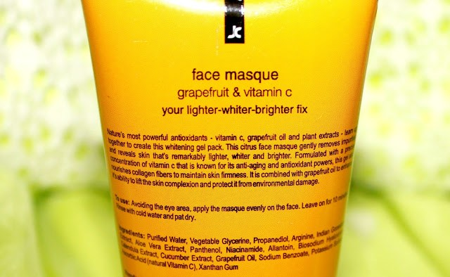 Natural Bath and Body Grapefruit & Vitamin C Gel Face Masque Review