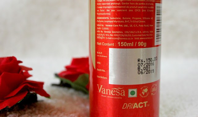 VANESA GLAM DEO MIST REVIEW