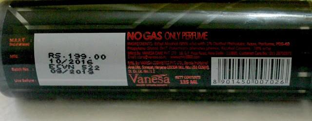 Vanesa Envy 1000 Crystal Vegas Night Cologne Body Spray Review