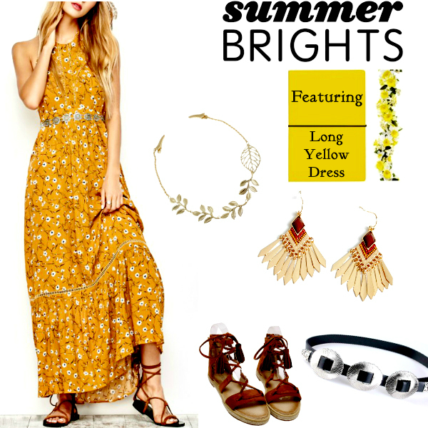 2017's Summer Fashion Must Have Long Yellow Dress