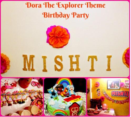 Dora The Explorer Theme Birthday Party:  Mishti's 3rd Birthday Party Tale