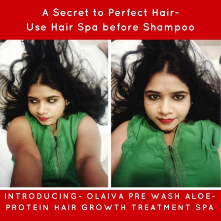 Olaiva Pre Wash Aloe-Protein Hair Growth Treatment Spa Review