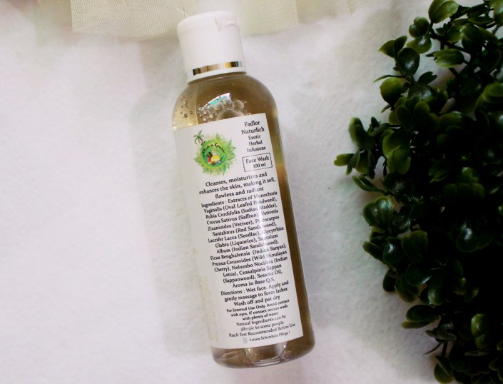 Fadlor Naturlich Exotic Herbal Infusions Face Wash Review