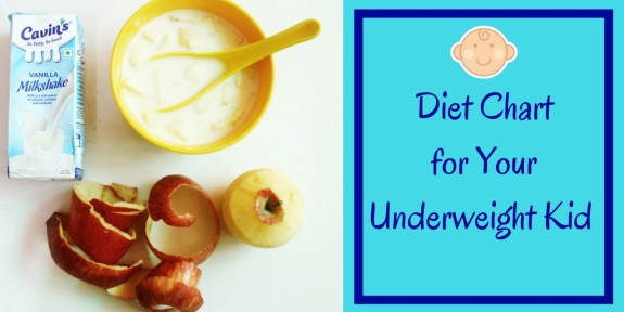 Diet Chart for Your Underweight Kid