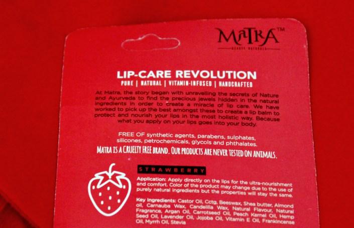Matra Holistic Lip Care Strawberry Salve Review