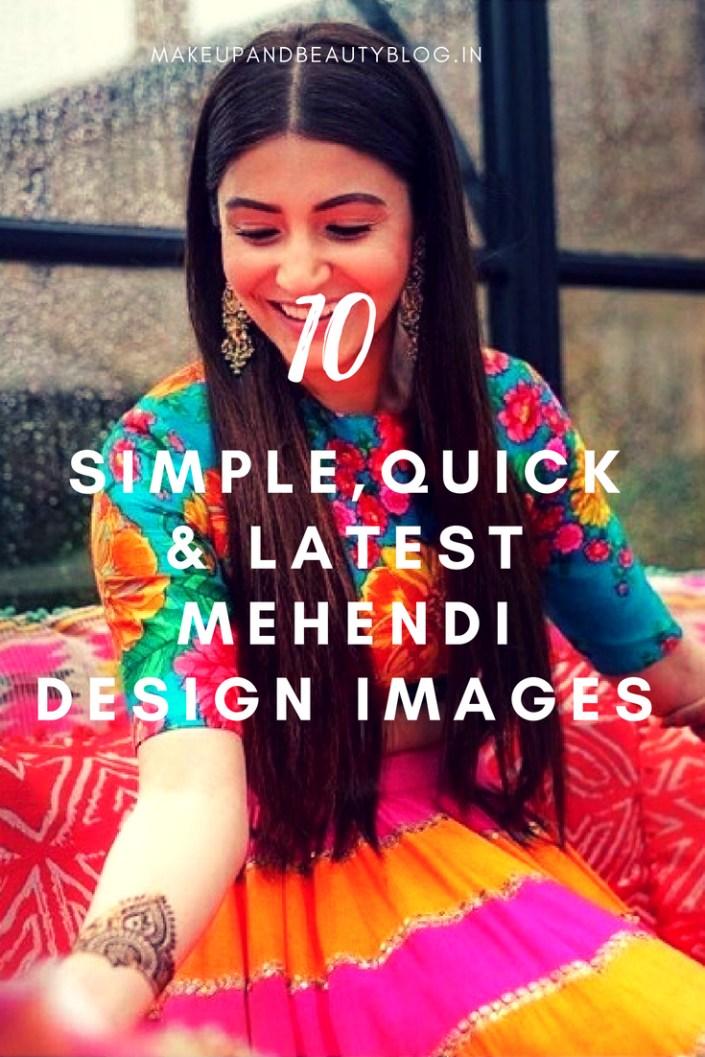 11 Simple, Quick & Latest Mehendi Design Images