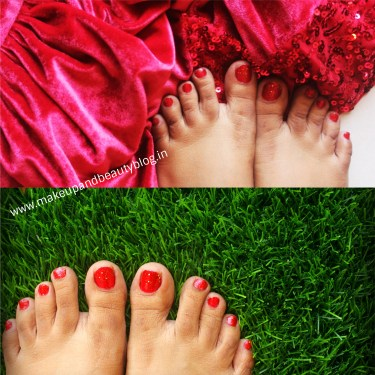 5 Best and Easy Sparkly Red Glitter Christmas Nail Design Images