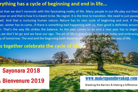 Everything in Life Counts on the Cycle of Starting & Ending…