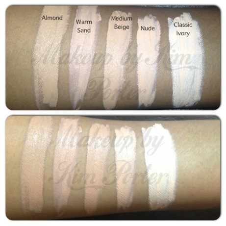 LA Girl Pro Concealer Swatches L-R: Almond, Warm Sand, Medium Beige, Nude, Classic Ivory