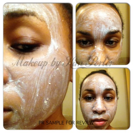 #107 Light Skin Peel after applied.  See, it's already drying.