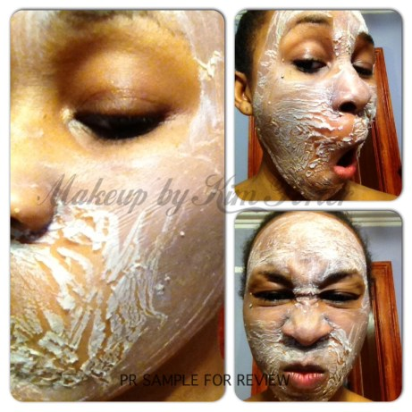 #107 Light Skin Peel after it's dried. It's ready to be sloughed off!