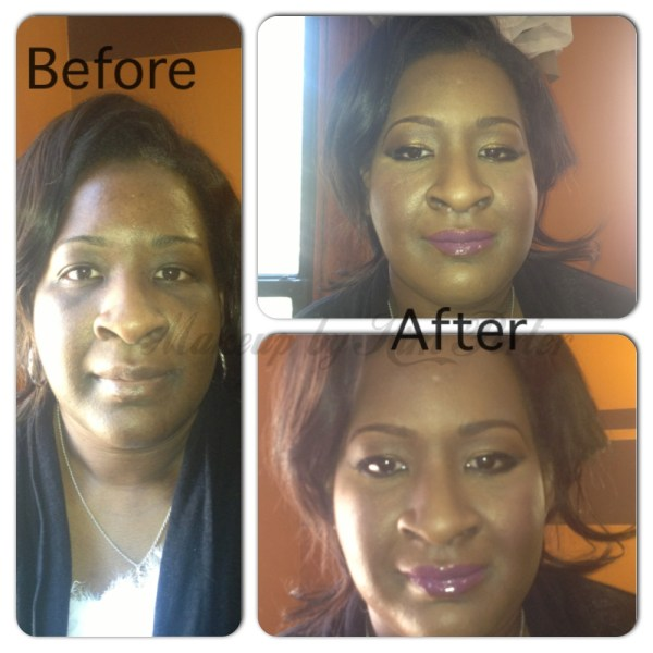 Bride Bridal Trial Before & After