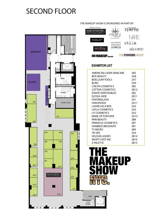 The Makeup Show NYC Floor Plan Floor 2