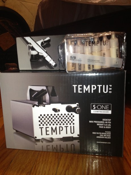 Temptu S-One Compressor, Temptu Sp-35 Airbrush, Temptu Starter Set Foundation 12 pack