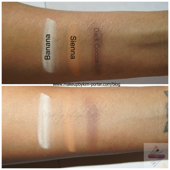 Ben Nye Powder Swatches