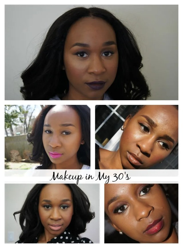 Makeup in my 30s collage
