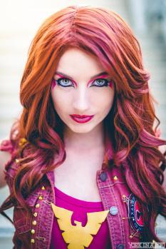 Punk Dark Phoenix, Model: Amanda Lynne Shafer, Makeup: Me, Photographer: York in a Box