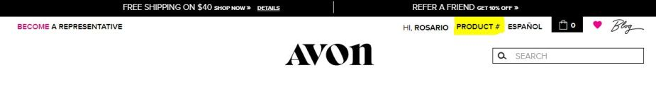 Order Avon using product number online