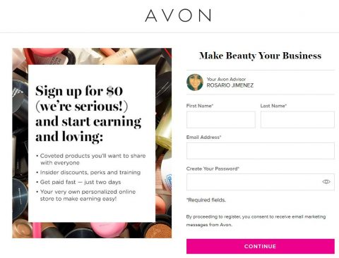 Click here to start your Avon Business today!
