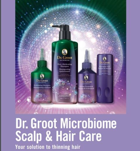 Dr. Groot Microbiome Scalp and Hair Care Your Solution to Thinning Hair Avon Catalog Campaign 21