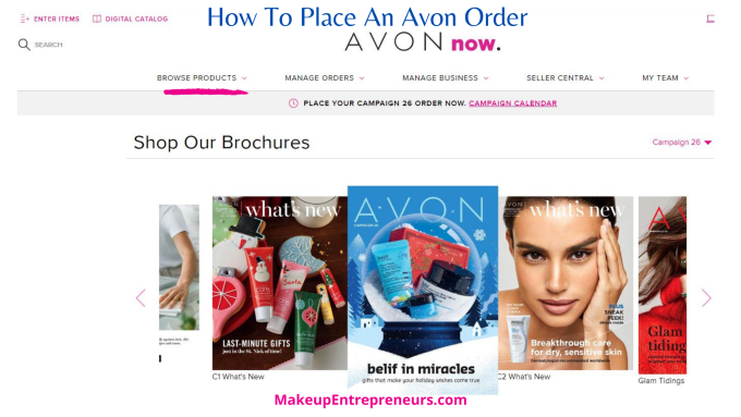 How To Place an Avon Order from Shop Our Brochures