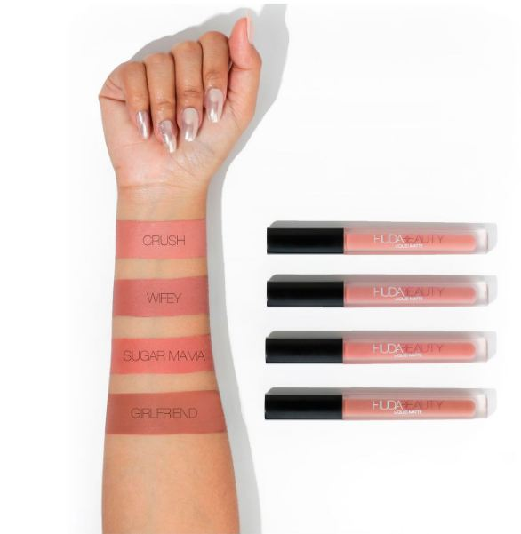 Huda Beauty Liquid Matte Nude Love Collection Swatches