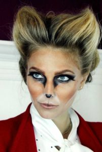 Cat Makeup with lenses