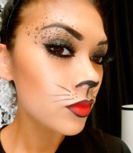 Extravagant makeup cat