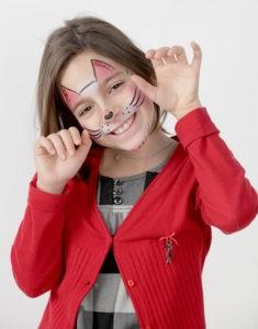 Female Makeup Sad Cat