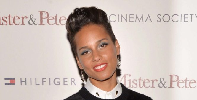 Alicia Keys at premiere The Inevitable Defeat of Mister and Pete