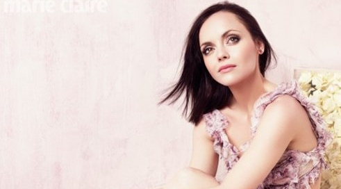 Christina Ricci for Marie Claire. Makeup by Kim Bower.