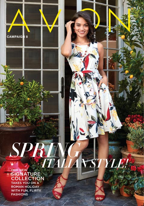 New! Avon eBrochure Campaign 8, 2017 Romantic Floral Dress