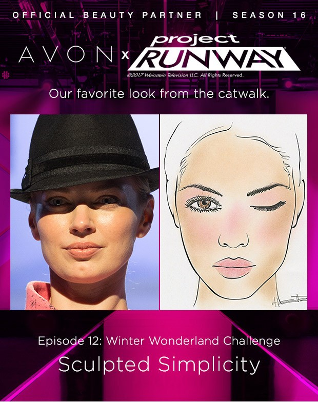 Avon x Project Runway - Our favorite look from the catwalk. Episode 12: Winter Wonderland Challenge Sculpted Simplicity