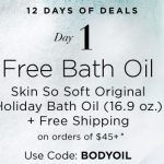 12 Days of Deals – Day 1 – Free Bath Oil from Avon Skin So Soft