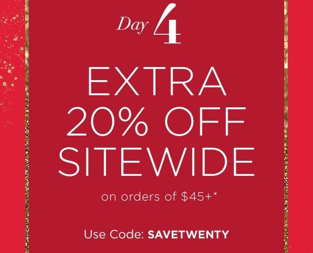 12 Days of Deals – Day 4 – Save an Extra 20% Sitewide