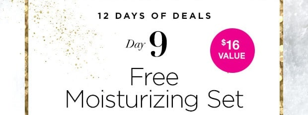 12 Days of Deals – Day  9 – Free Moisture Therapy Moisturizing Set
