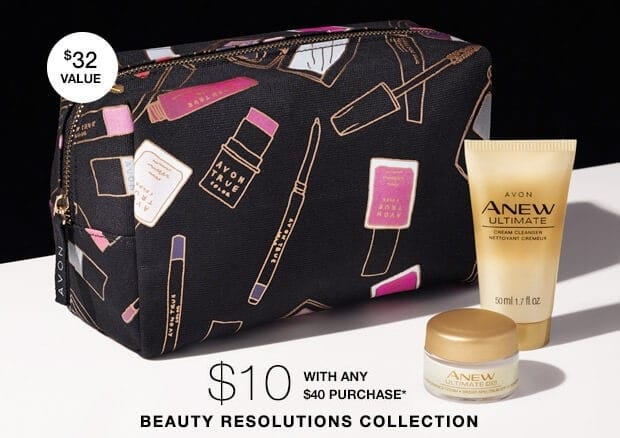 Beauty Resolutions Collection – Exclusive Avon Cosmetics Bag and More